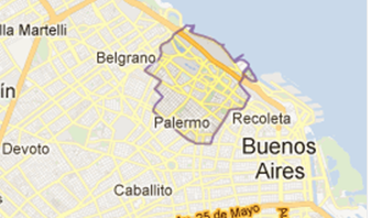 mapa barrio de Palermo, Capital Federal